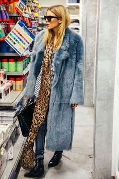 suddenly wishing i had kept that vintage faux fur coat in blue i used to have