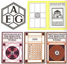 Peter Behrens - design identity for aeg Corporate Design, Branding Design, Logo Design, Corporate Identity, Brand Identity, Layout Design, Design Ideas, Art Nouveau, Art Deco