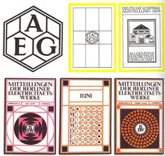 New logo for AEG designed by Peter Behrens in 1907