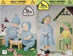 50s Vintage Dolls Clothes Knitting by allthepreciousthings on Etsy, $14.00