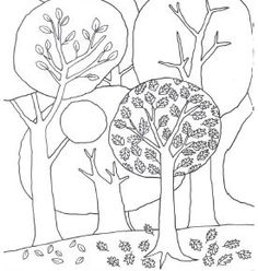 Fall trees colouring page from Usborne's Big Book of Drawing, Doodling and Colouring http://usborneonline.ca/catalogue/browse.asp?org=108319&css=1&cat=1&subject=A&subcat=ACCD&id=7017