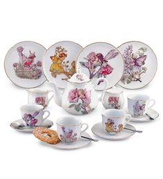 Dishwasher Safe Hand-Finished Porcelain Large Flower Fairy Tea Set