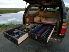 """I would like to build something similar for my """"future"""" truck. Truck Vault - weapon/gear storage lockers"""