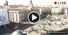 Gran vista panorámica de la Puerta del Sol en Madrid