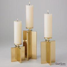 Global Views Axis Candleholder-Brass-Sm - Global Views D9-90043
