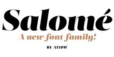 Salome free font by Atipo