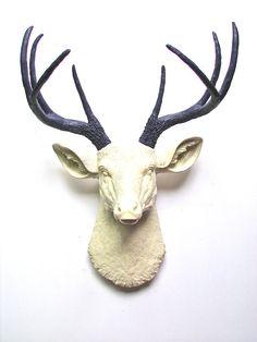 Faux Taxidermy Deer Head Wall hanging Wall Decor by mahzerandvee, $92.00