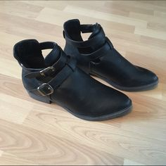 Mossimo Buckle Booties Super punk booties. Literally never worn, they're brand new. Double buckle on side. Mossimo Supply Co Shoes Ankle Boots & Booties