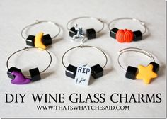 Learn how to make your own wine glass charms at  @cspangenberg