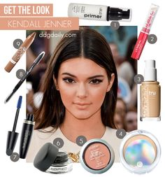 Get the look: Kendall Jenner - Kendall Jenner — no longer just the half sister of the wham-bam-glam Kardashians. Recently she's been seen strutting her stuff on the fashion stages of Kiss Makeup, Love Makeup, Makeup Tips, Kendall Jenner Makeup, Kendall Jenner Style, All Things Beauty, Beauty Make Up, Diy Beauty Mask, Big Lashes