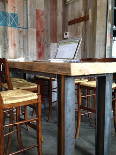 Reclaimed Wood Furniture | Blue Barn Restaurant | Marin County | Black's Farmwood | Black's Farmwood, Reclaimed and Recycled Wood, Reclaimed Wood Flooring, Reclaimed Wood Furniture