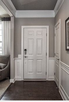 Superb Wall color with white door