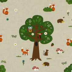 Forest Creatures 1 - Designer decor fabricsfavorable buying at our shop