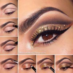 makijaż złoty