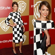 Jessica Alba Golden Globe after party Louis Vuitton Shift Dress