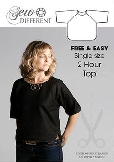 Share with:Here is my FAVOURITE EVER top! It is super simple with no fastenings or zips and, as the name suggests, can be made from start to finish in just 2 hours. This pattern takes 1 metre of fabric (standard 150cm/ 60inch width). All my free sewing patterns are made to fit a size 12, but …