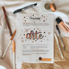 Bullet Journal School, Bullet Journal Art, Bullet Journal Ideas Pages, Bullet Journal Inspiration, Art Journal Pages, Cute Notes, Pretty Notes, Motivation Letter, Tumblr School