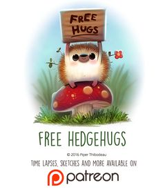 Day 1445. Free Hedgehugs by Cryptid-Creations on DeviantArt