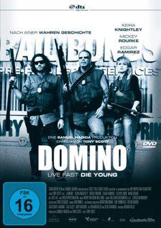 Domino * IMDb Rating: 5,9 (45.414) * 2005 USA,UK,France * Darsteller: Keira Knightley, Mickey Rourke, Édgar Ramírez,