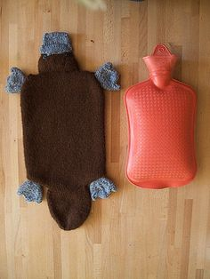 Platypus hot water bottle cover