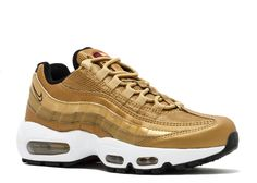 Air Max Sneakers, Shoes Sneakers, Nike Air Max Running, Metallic Gold Color, Nike Gold, Running Trainers, Air Max Women, Air Max 95, Latest Shoes