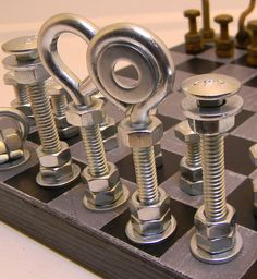 DESIGN FETISH: Hardware Chess Set