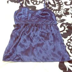 100 % SILK INC brand Dark blue pin-tucked top! Beautiful pin-tucked dark navy blue silky blouse by INC brand. Only worn Once. Great for layering. Third picture shows true color and second shows detail on bust area. INC International Concepts Tops