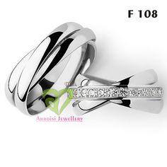 Arro jewell F11 Silver Rhodium by adindarings on Etsy