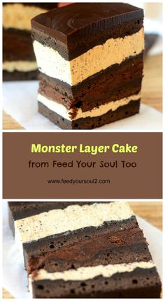 Monster Layer Cake from Feed Your Soul Too