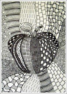 How To Start A Zentangle | http://graffiti-artworks-222.blogspot.com