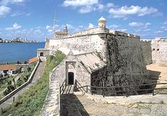 Morro Castle (Castillo del Morro), completed in 1640, on the northern side of the port entrance to the bay, Havana, Cuba.