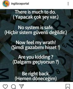 English Sentences, English Words, English Grammar, English Language, Language Quotes, Language Lessons, Words To Use, Cool Words, Turkish Lessons