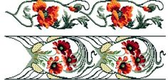 Poppies. Cross stitch chart. Instant download. by rolanddesigns, $2.00