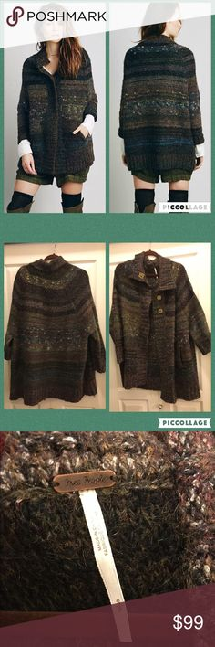 REDUCED🎉Free People Starlight Poncho Cardi SOLD OUT ONLINE!!! Like new, worn 1x, amazing condition, smoke free home. Only selling because I'm moving & need to downsize. (I have both colors in my closet!) Free People Sweaters Cardigans