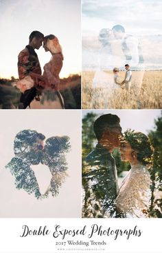 Top 10 Wedding Trends for 2017 - Chic Vintage Brides - Top Wedding Trends 2017 – Double Exposed Photographs Top Wedding Trends 2017 – Double Exposed P - Top Wedding Trends, Wedding 2017, Fall Wedding, Wedding Events, Dream Wedding, Wedding Season, Wedding Details, Wedding Poses, Wedding Photoshoot