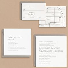 Modern Type Wedding Invitations    [paper source]
