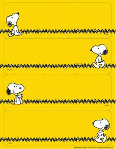 Snoopy Label Stickers
