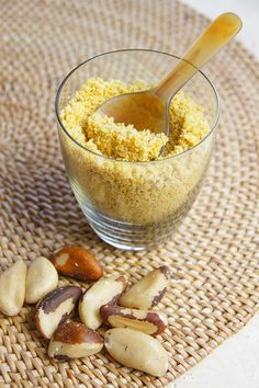 Super Quick Raw Vegan Protein Packed Parmesan:  ½ cup brazil nuts 3 heaped tablespoons nutritional yeast 2 good pinches of fine Himalayan Rock Salt  Whizz and whizz and whizz all three ingredients in a food processor till nice and crumbly Store in an airtight container.