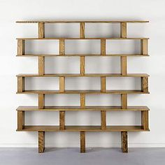 book shelf... I like the uneven look