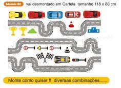Adesivo Pista Carros Infantil Mod.2
