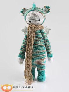 Lalylala Dragon Doll - poupée Lalylala dinosaure - Crochet Dragon - dinosaure farcis au Crochet - Crochet poupée-amigurumi poupée en peluche