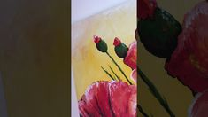 """Poppies"" acrylic painting by szjdesign - YouTube"