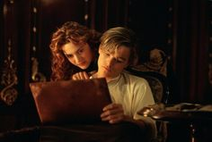 "Jack (Leonardo DiCaprio) and Rose (Kate Winslett) in the epic ""Titanic"""