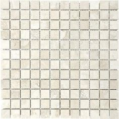 Anatolia - Filled & Honed Ivory Travertine Mosaics - 1 Inch x 1 Inch - 76-338 - Home Depot Canada
