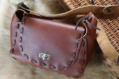 Vintage Leather Boho Satchel $28 | Miss Molly Vintage