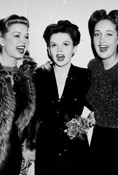 Frances Langford, Judy Garland and Dorothy Lamour (ca. 1943).