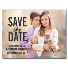 Modern Simple Save the Date Postcards