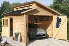 Houten garage, bijgebouw tuinhuis - Wooden garage, carport, shed ♥ Fonteyn