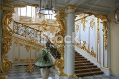 The State staircase in Catherine Palace (Tsarskoye Selo) Royalty Free Stock Photo