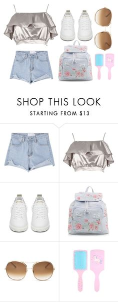 """""""Ruffled tops"""" by dakota4-1 ❤ liked on Polyvore featuring River Island, Golden Goose, New Look and Chloé"""